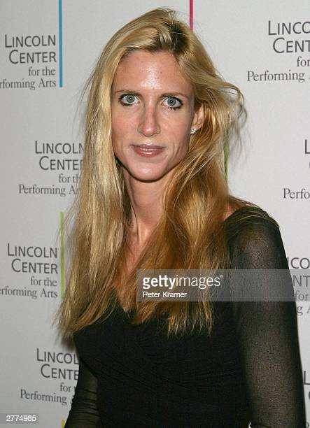 Conservative pundit Ann Coulter arrives at the Lincoln Center's Winter Gala 'Celebrating Leonard Bernstein's New York' held on December 1 2003 at...