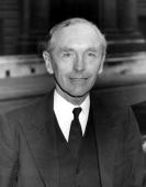 Conservative Scottish politician Alec DouglasHome The Earl of Home and later Prime Minister arrives at the Commonwealth Relations Office in...