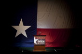 Conservative supporters gather at the Victory Texas and Republican Party of Texas election night watch party for Republican Gov Rick Perry at the...