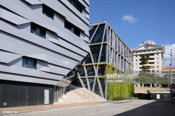 Conservatoire by Kengo Kuma & Pavilion Noir by Rudy Ricciotti Aix-en-Provence