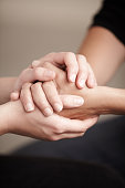 Consoling hands