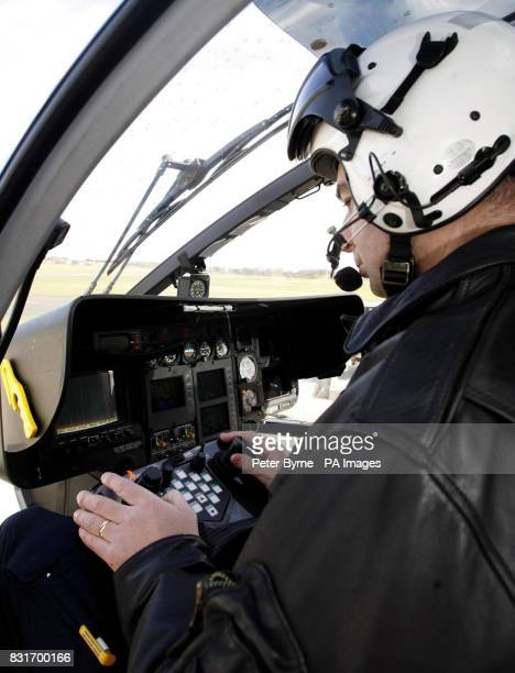 Constable Andy Watson Merseyside Police Helicopter Team with their new camera which can show a mans face fully from a height of 1000ft which will be...