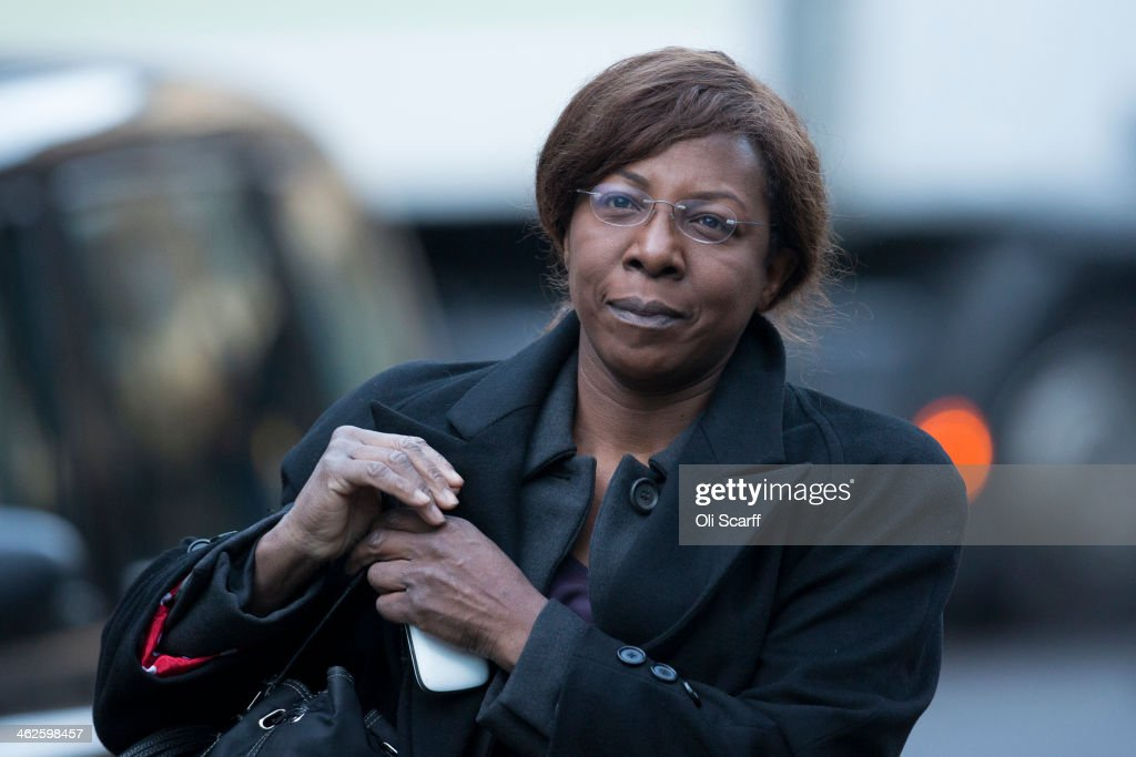 Constance Briscoe, a barrister and part-time judge, arrives at Southwark Crown Court charged with perverting the course of public justice on January 14, 2014 in London, England. Ms Briscoe is accused of providing two inaccurate statements to police and altering a police witness statement, which were used in the trial of Chris Huhne and Vicky Pryce.