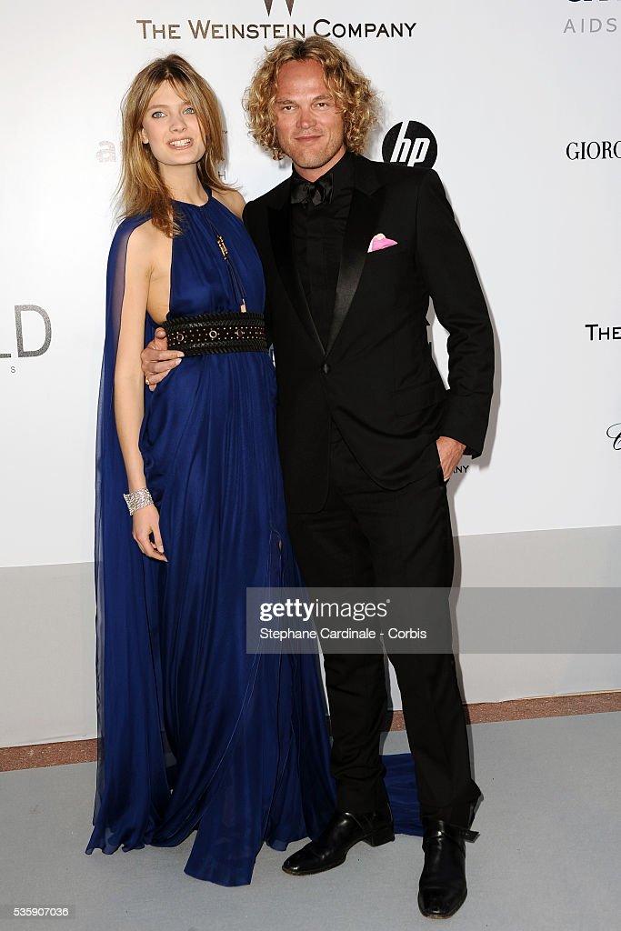 Constance Jablonksi and Peter Dundas attend the '2010 amfAR's Cinema Against AIDS' Gala