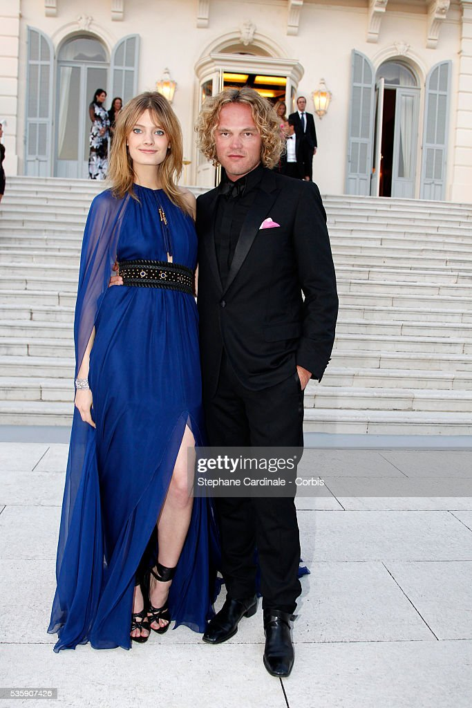 Constance Jablonksi and Peter Dundas attend the '2010 amfAR's Cinema Against AIDS Gala'