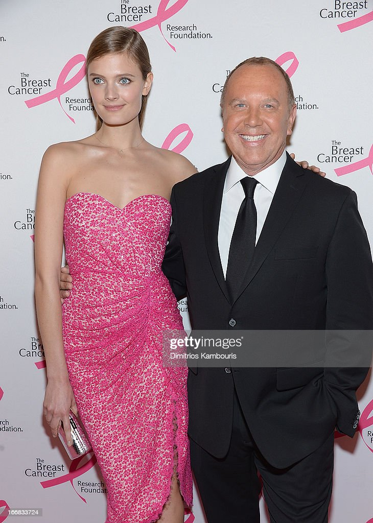 Constance Jablonski and Michael Kors attends The Breast Cancer Research Foundation's 2013 Hot Pink Party at The Waldorf=Astoria on April 17, 2013 in New York City.