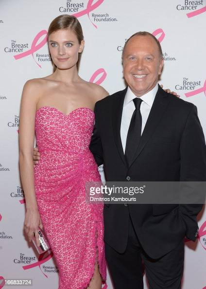 Constance Jablonski and Michael Kors attends The Breast Cancer Research Foundation's 2013 Hot Pink Party at The Waldorf=Astoria on April 17 2013 in...