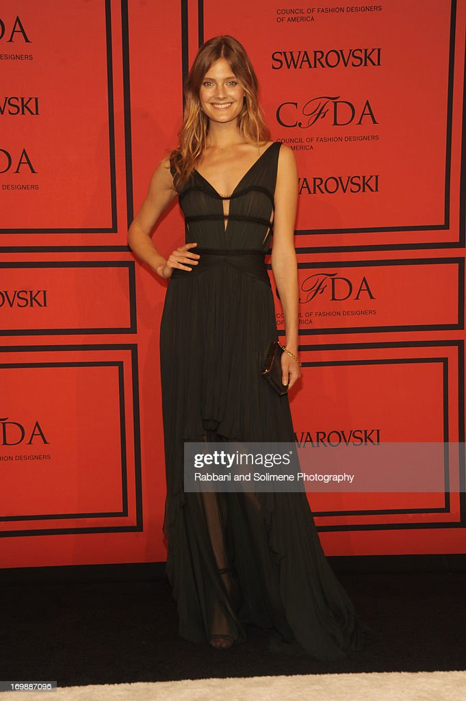 Constance Jablonski attends 2013 CFDA Fashion Awards at Alice Tully Hall on June 3, 2013 in New York City.