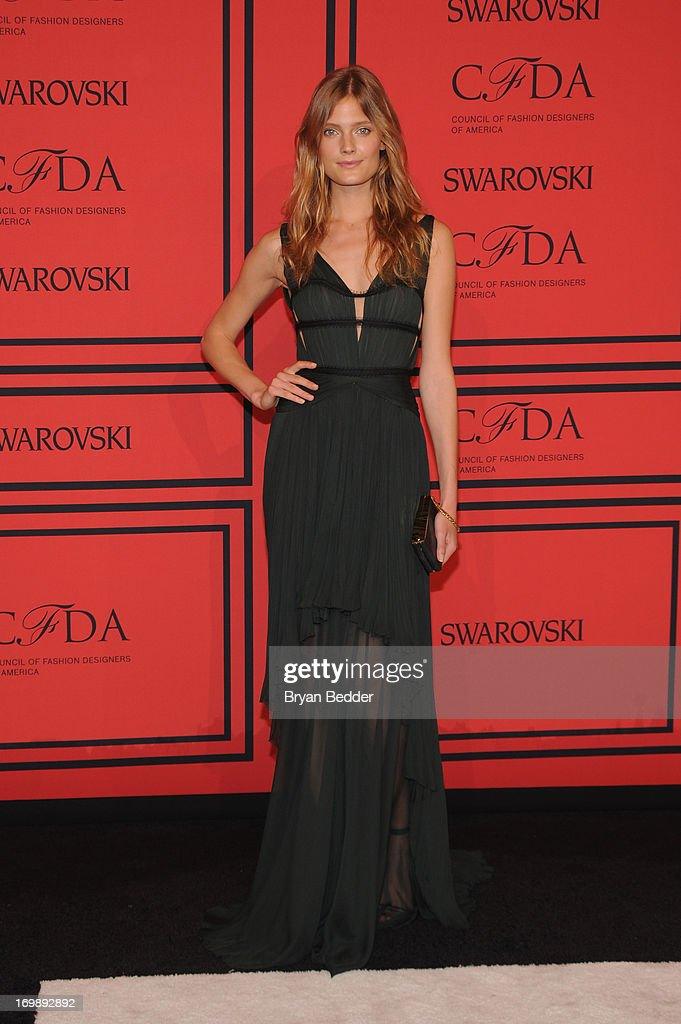 Constance Jablonski attends 2013 CFDA FASHION AWARDS Underwritten By Swarovski - Red Carpet Arrivals at Lincoln Center on June 3, 2013 in New York City.