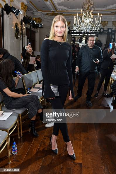 Constance Jablonski attends Jason Wu Front Row Runway February 2017 New York Fashion Week at The St Regis on February 10 2017 in New York City
