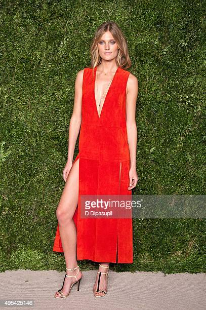 Constance Jablonski attends the 12th annual CFDA/Vogue Fashion Fund Awards at Spring Studios on November 2 2015 in New York City