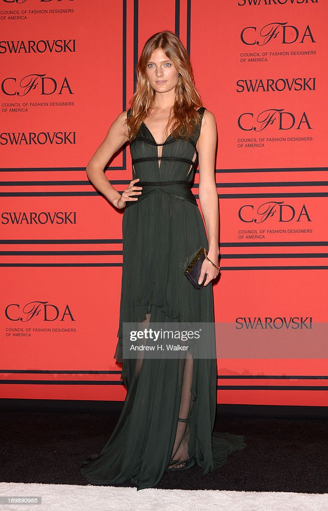Constance Jablonski attends the 2013 CFDA Fashion Awards on June 3, 2013 in New York, United States.