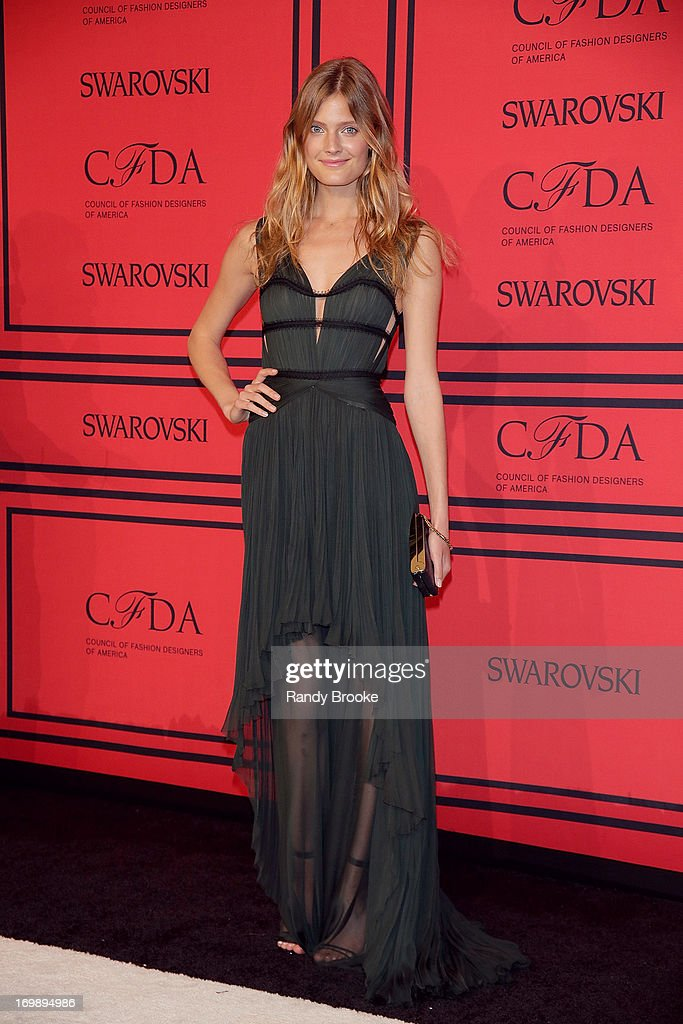 Constance Jablonski attends the 2013 CFDA Fashion Awardson June 3, 2013 in New York, United States.
