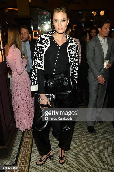Constance Jablonski attends the 2015 Tribeca Film Festival CHANEL Artists Dinner at Balthazer on April 20 2015 in New York City