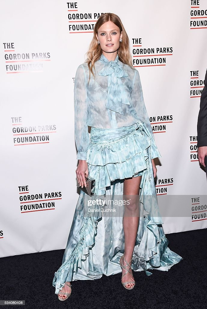 Constance Jablonski attends the 2016 Gordon Parks Foundation Awards Dinner at Cipriani 42nd Street on May 24 2016 in New York City