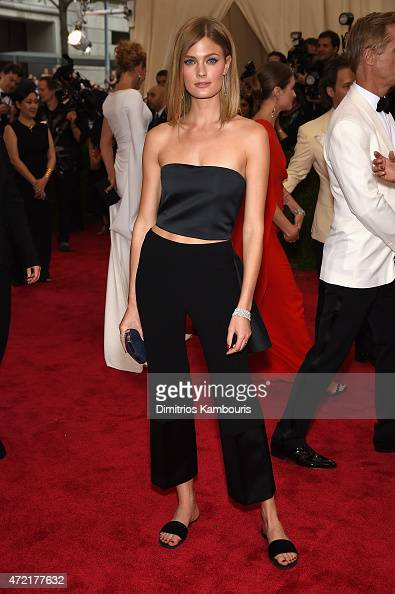 Constance Jablonski attends the 'China Through The Looking Glass' Costume Institute Benefit Gala at the Metropolitan Museum of Art on May 4 2015 in...