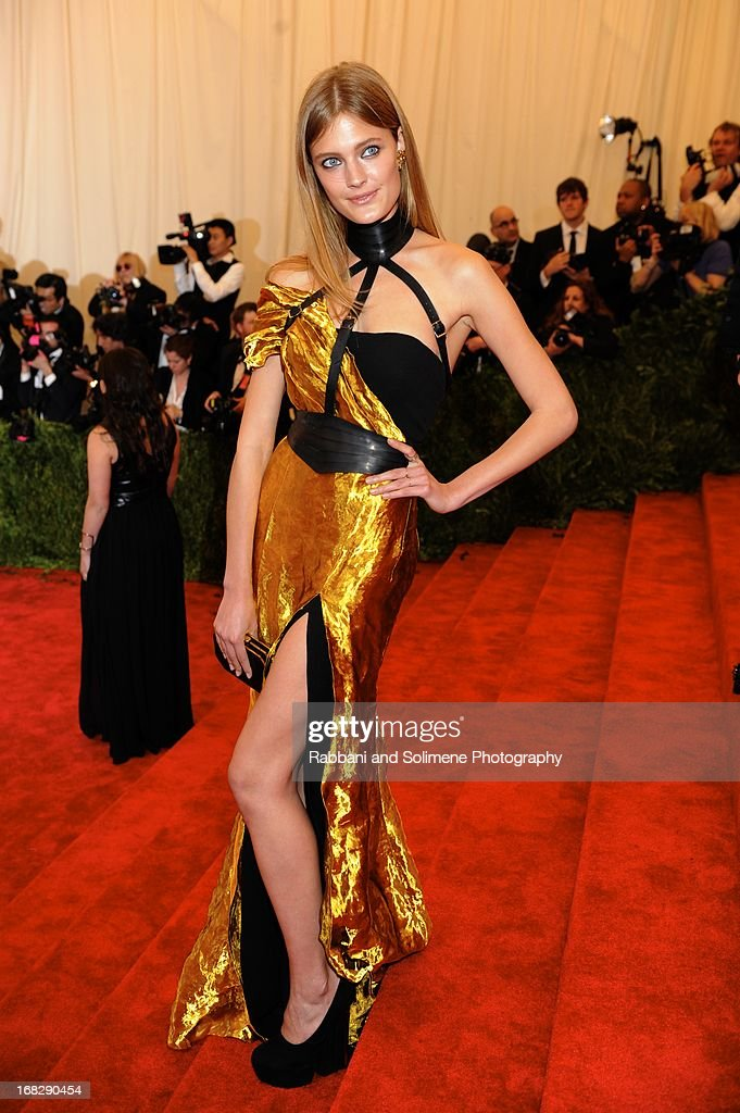 Constance Jablonski attends the Costume Institute Gala for the 'PUNK: Chaos to Couture' exhibition at the Metropolitan Museum of Art on May 6, 2013 in New York City.