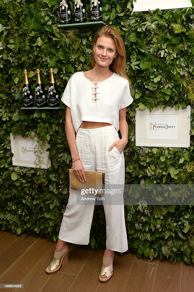 Constance Jablonski attends the Maiyet Toni Garrn Celebration of Plan International at L'Eden by PerrierJouet at Penthouse at the Faena Hotel Miami...
