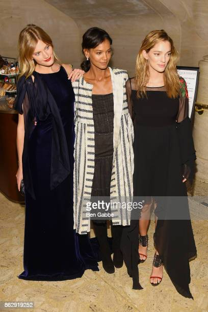 Constance Jablonski Liya Kebede and Sofia Sanchez de Betak attend the American Ballet Theatre Fall Gala at David H Koch Theater at Lincoln Center on...