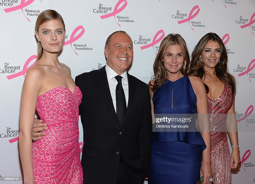 Constance Jablonski, Michael Kors, Aerin Lauder and Elizabeth Hurley attend The Breast Cancer Research Foundation's 2013 Hot Pink Party at The Waldorf=Astoria on April 17, 2013 in New York City.
