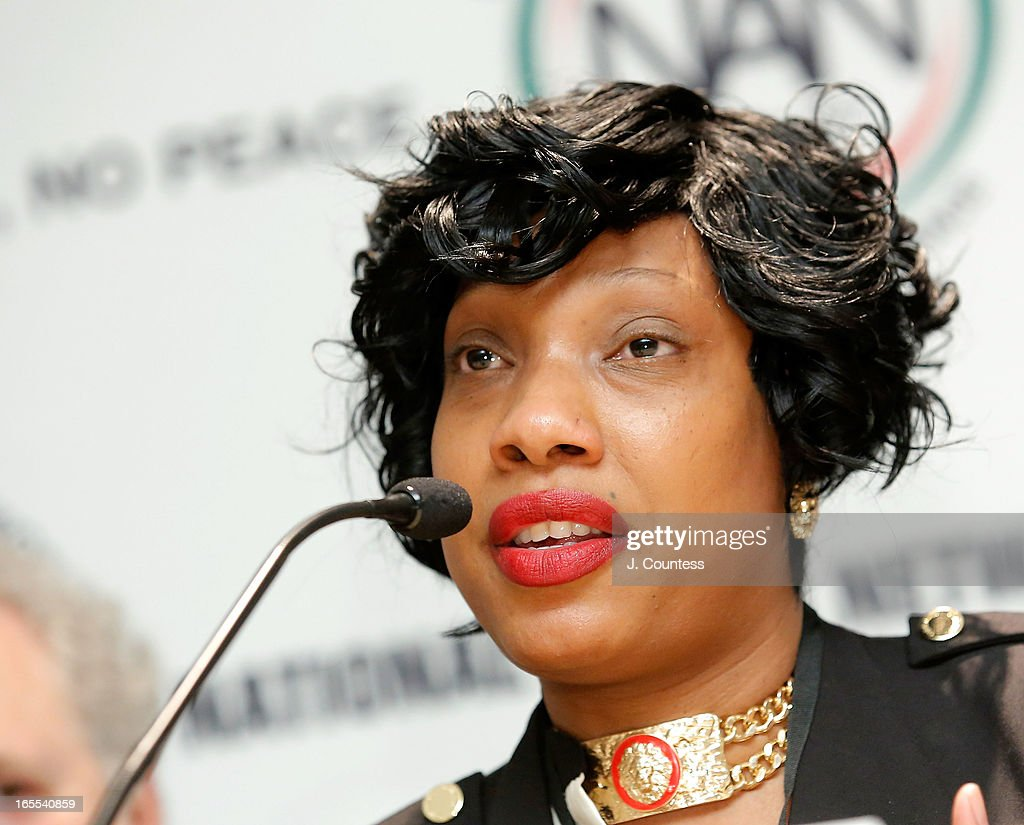 Constance Malcolm, wife of murder victim Ramarley Graham speaks during the 'Crisis Panal: How Do We Deal And Organize Around Community Crisis' Panal during the 2013 NAN National Convention Day 2 at New York Sheraton Hotel & Tower on April 4, 2013 in New York City.