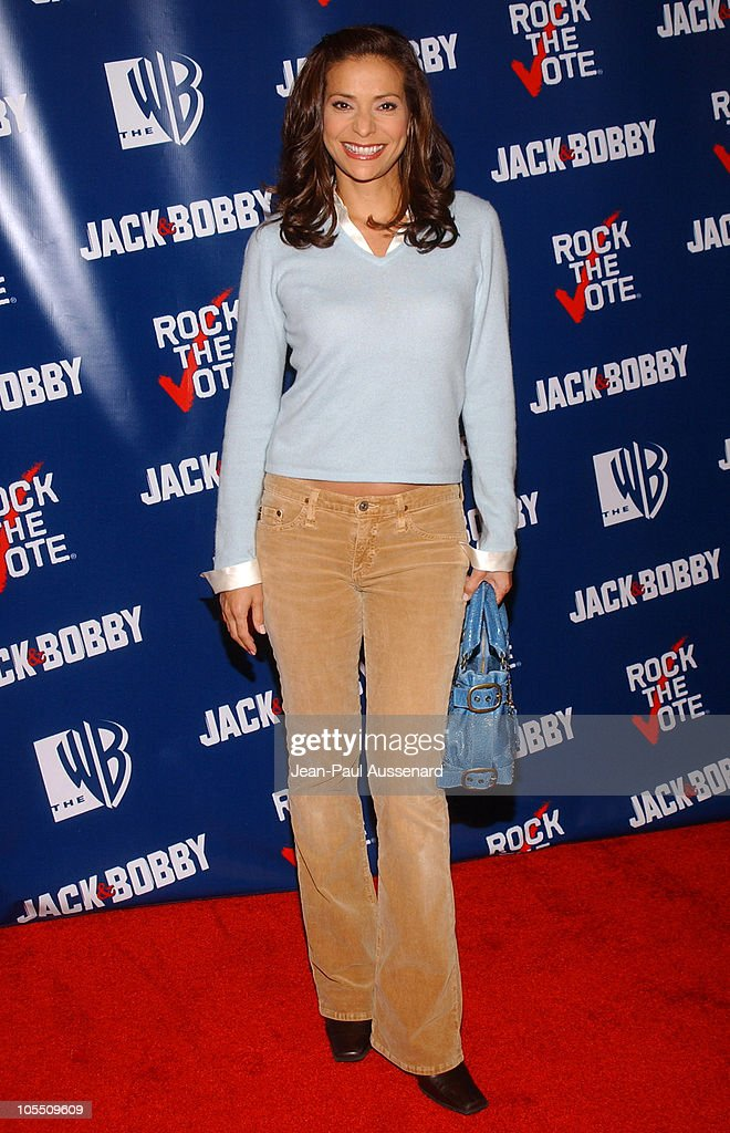 Constance Marie during The WB Network's 'Jack and Bobby' Rock the Vote Party Arrivals at Warner Bros Studios in Burbank California United States
