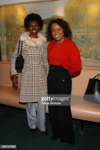 Constance White and Teri Agins attend Andre Leon Talley and Robert Burke host at La Caravelle for Loulou de la Falaise Collection on February 12 2004