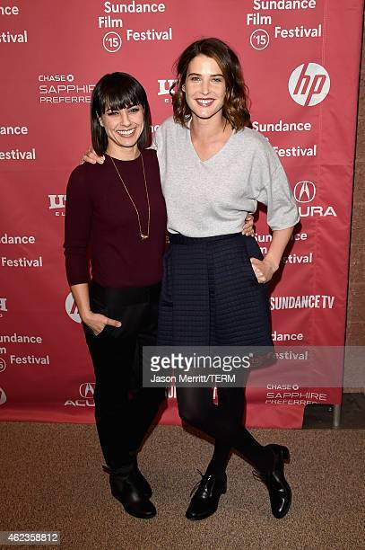 Constance Zimmer and Cobie Smulders attend the 'Results' Premiere during the 2015 Sundance Film Festival at the Eccles Center Theatre on January 27...