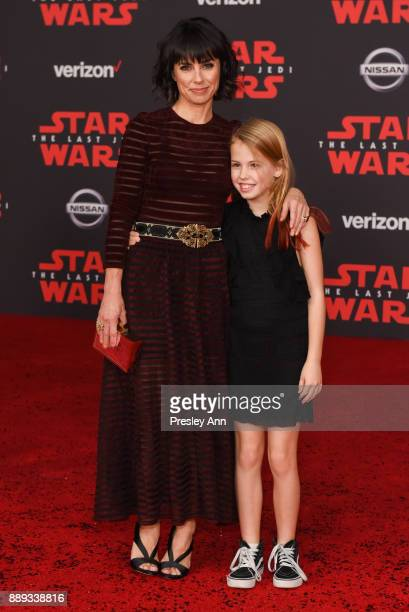 Constance Zimmer and Colette Zoe attend Premiere Of Disney Pictures And Lucasfilm's 'Star Wars The Last Jedi' Arrivals at The Shrine Auditorium on...