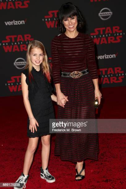 Constance Zimmer and Colette Zoe attend the premiere of Disney Pictures and Lucasfilm's 'Star Wars The Last Jedi' at The Shrine Auditorium on...