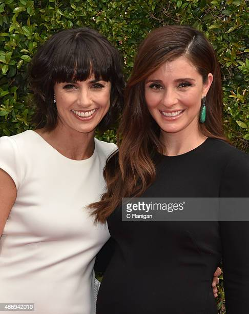 Constance Zimmer and Shiri Appleby attend the 2015 Creative Arts Emmy Awards at Microsoft Theater on September 12 2015 in Los Angeles California