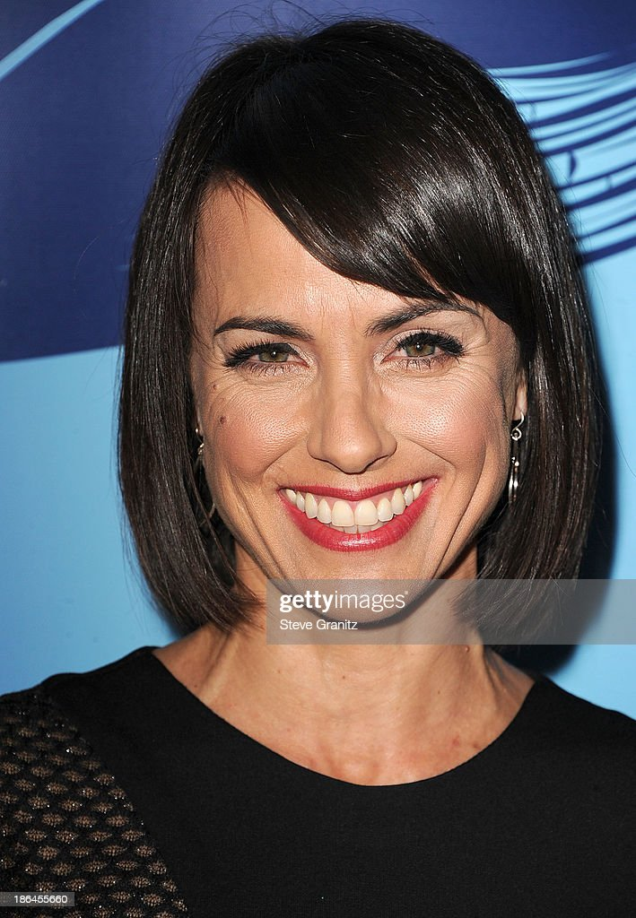 Constance Zimmer arrives at the Oceana Partners Award Gala With Former Secretary Of State Hillary Rodham Clinton and HBO CEO Richard Pleple at Regent Beverly Wilshire Hotel on October 30, 2013 in Beverly Hills, California.