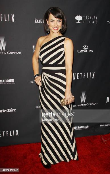 Constance Zimmer arrives at The Weinstein Company and NetFlix 2014 Golden Globe Awards after party held on January 12 2014 in Beverly Hills California