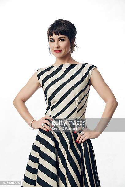 Constance Zimmer poses for a portrait during the 21st Annual Critics' Choice Awards at Barker Hangar on January 17 2016 in Santa Monica California