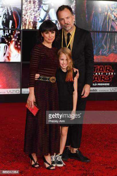 Constance Zimmer Russ Lamoureux and Colette Zoe attend Premiere Of Disney Pictures And Lucasfilm's 'Star Wars The Last Jedi' Arrivals at The Shrine...