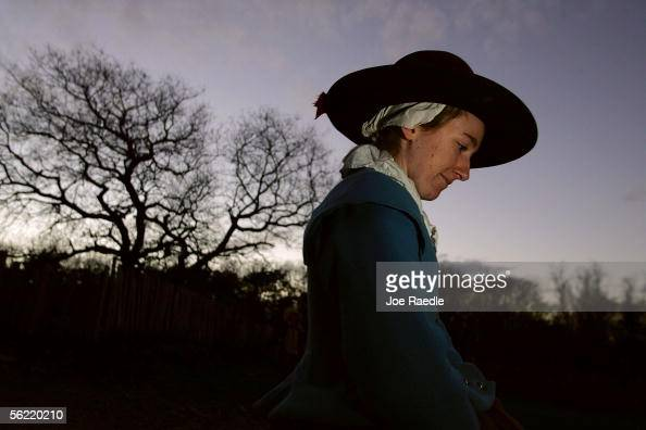 Constant Snow walks through the 1627 Pilgrim Village at 'Plimoth Plantation' where she and other roleplayers portray Pilgrims seven years after the...
