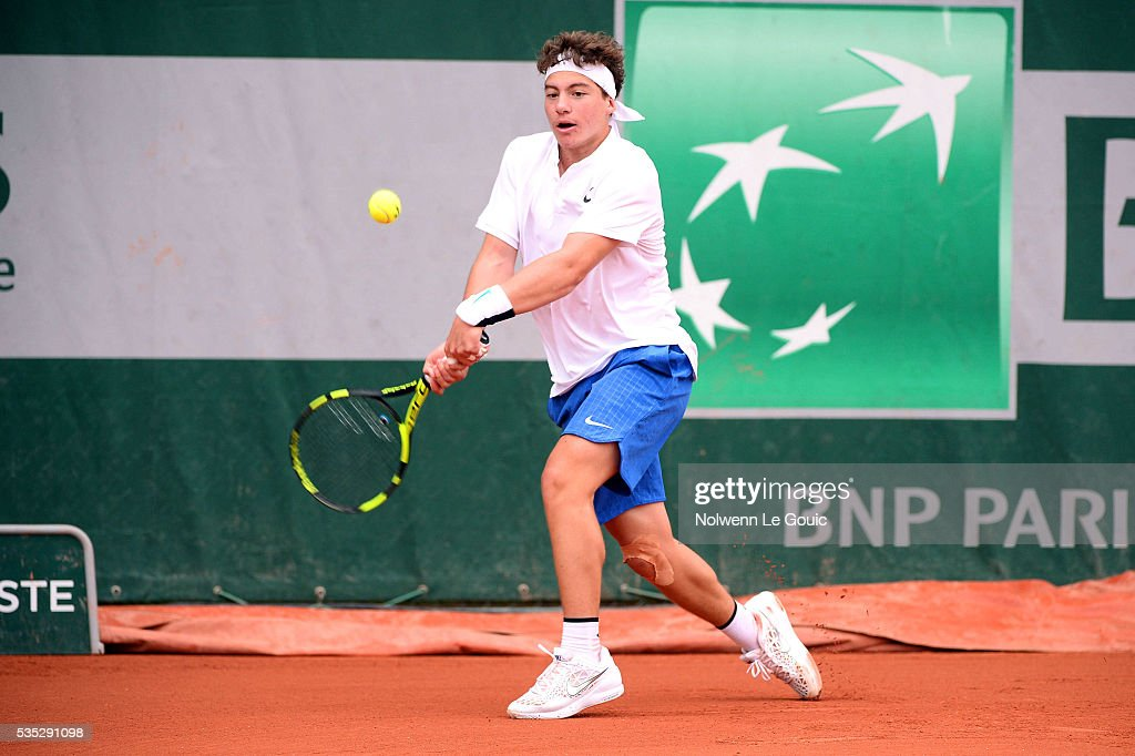 Constantin Bittoun Kouzmine during the Juniors Men's Singles of the French Open 2016 on May 29, 2016 in Paris, France.