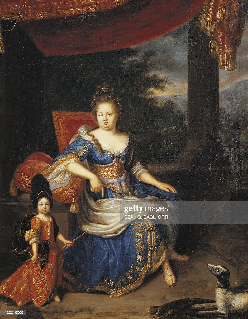 Constantin Netscher Portrait of Elizabeth of the Palatinate Mother of Regent Philippe d'Orleans
