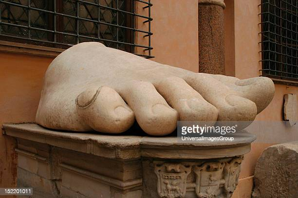 Constantine I The Great Roman Emperor Best known for beign the first christian roman emperor Foot of Constantine's colossal Statue at the Capitoline...