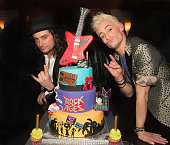 Constantine Maroulis and Frankie Grande party at the Hudson Parish in honor of 'Rock Of Ages' final performance on Broadway January 18 2015 in New...