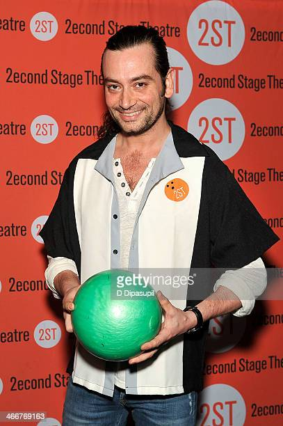 Constantine Maroulis attends the 2014 Second Stage Theatre's AllStar Bowling Classic fundraiser at Lucky Strike Lanes Lounge on February 3 2014 in...