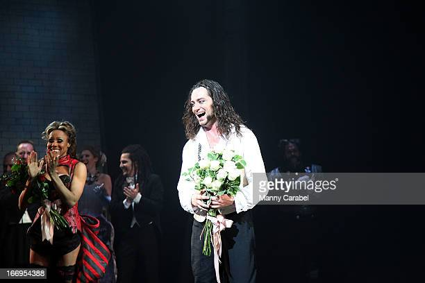Constantine Maroulis attends the Broadway opening night curtain call of 'Jekyll Hyde The Musical' at the Marquis Theatre on April 18 2013 in New York...
