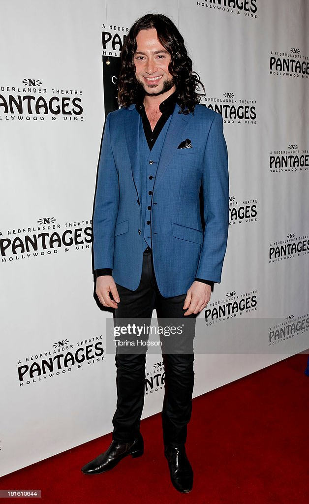 <a gi-track='captionPersonalityLinkClicked' href=/galleries/search?phrase=Constantine+Maroulis&family=editorial&specificpeople=208875 ng-click='$event.stopPropagation()'>Constantine Maroulis</a> attends the 'Jekyll & Hyde' Los Angeles play opening at the Pantages Theatre on February 12, 2013 in Hollywood, California.