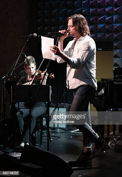 Constantine Maroulis in rehearsal for 'The Lord The Master Broadwayworldcom sings Andrew Lloyd Webber Stephen Sondheim' at Joe's Pub on June 16 2014...