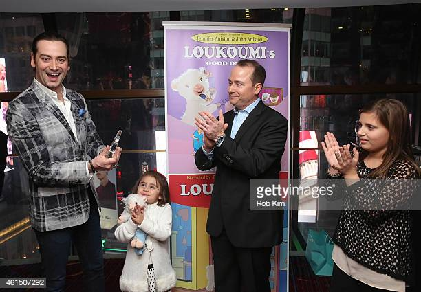 Constantine Maroulis is given an award by author Nick Katsoris at Loukoumi Make A Difference Foundation Honors Contantine Maroulis of Rock Of Ages at...