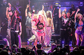 Constantine Maroulis Lauren Zakrin and Genson Blimline attend 'Rock Of Ages' Final Performance On Broadway at Helen Hayes Theatre on January 18 2015...