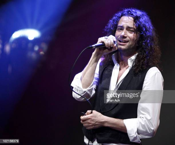 Constantine Maroulis performs A Night At The Rock Show at Highline Ballroom on June 16 2010 in New York City