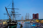 USS Constellation and tall ships