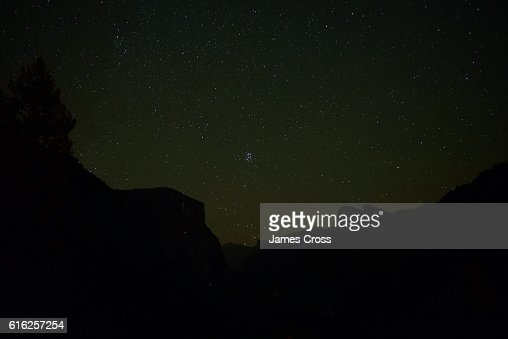 Constellations over Yosemite : Foto de stock
