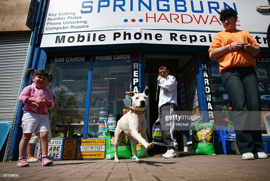Constituents face the realities of the High Street in Springburn, part of the Glasgow North East constituency of the Speaker of the House Of Commons Michael Martin, on May 12, 2009 in Glasgow, Scotland. Members of Parliament are accused of losing touch with the electorate as revelations over creative expense accounting continue to cast shadows over their integrity.